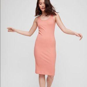 Aritzia Wilfred Ribbed Midi Dress